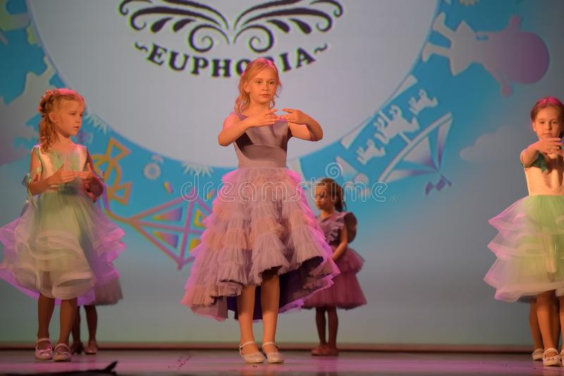 Фестиваль XVII России, Санкт-Петербурга 01,06,2019 благотворительный творческих способностей детей стоковые изображения rf