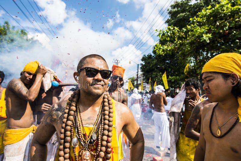 Фестиваль вегетарианца Пхукета стоковое изображение rf