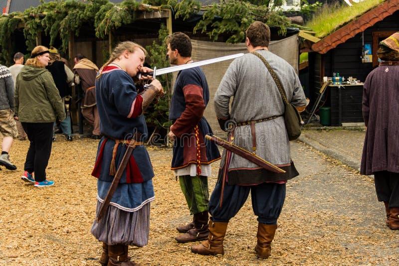 Фестиваль 2014 Викинга стоковые изображения rf