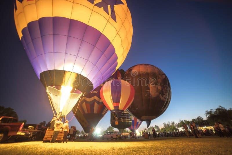 Фестиваль воздушного шара Temecula горячий стоковые фотографии rf