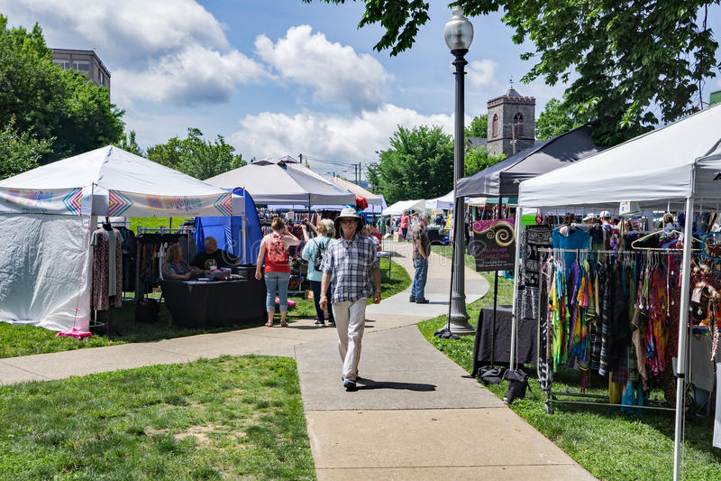 Фестиваль в парке, Roanoke 2017, Вирджиния, США стоковые изображения rf