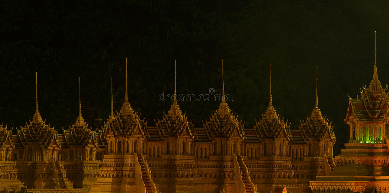 Фестиваль замка воска на Sakon Nakon, Таиланде стоковые изображения