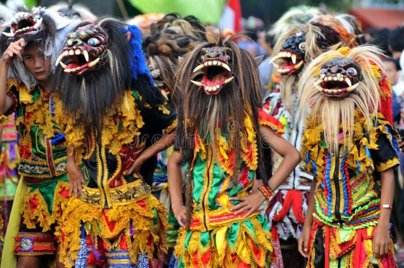 Фестиваль искусств в Yogyakarta, Индонезии стоковое изображение rf