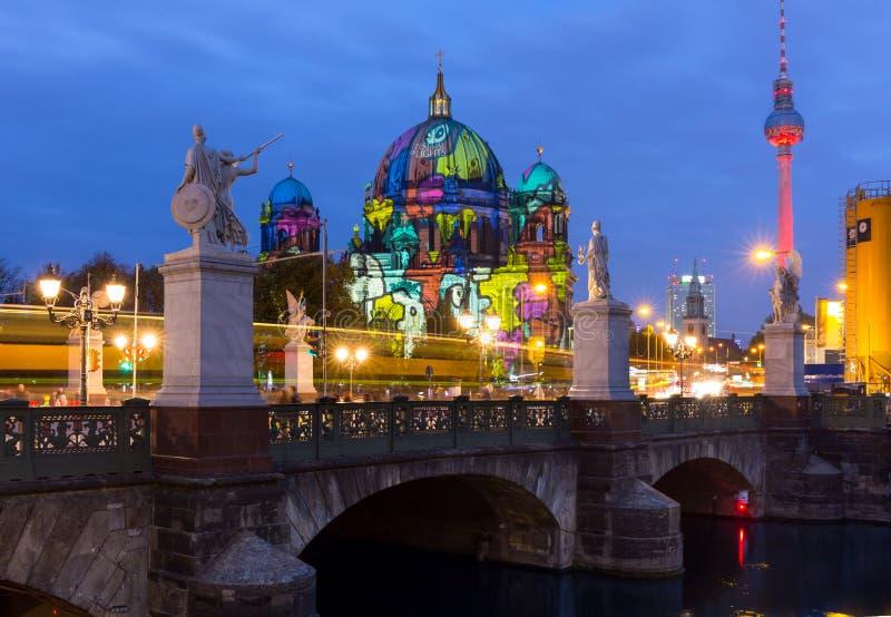 Фестиваль огней, Берлин стоковые фото