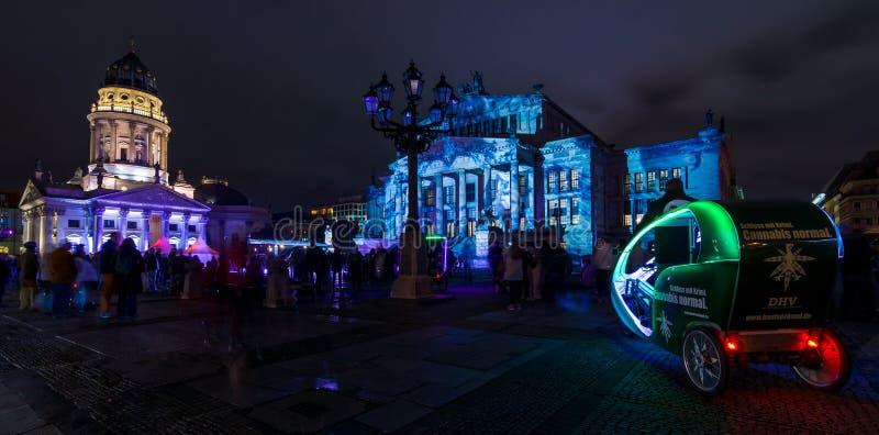 Фестиваль огней 2016 berlin Германия стоковое изображение
