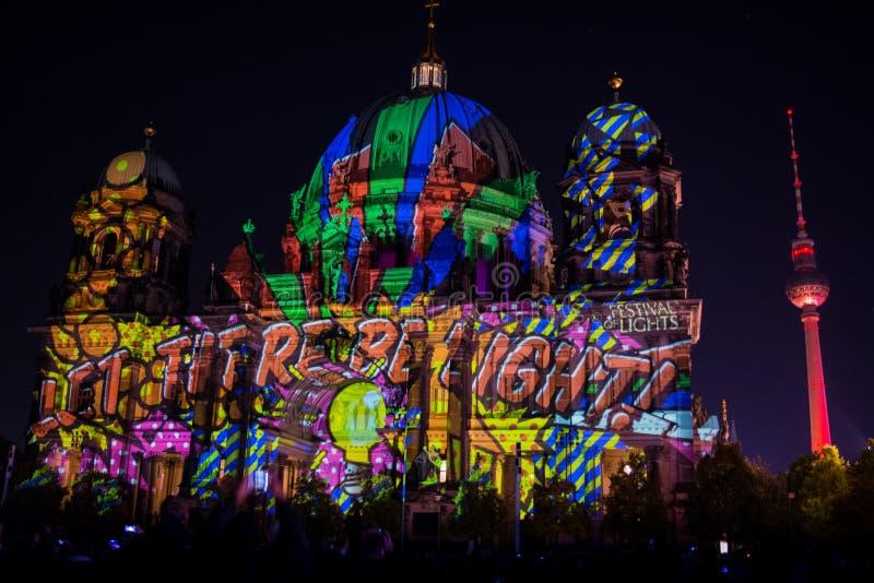 Фестиваль огней Cathadral Берлина стоковое фото