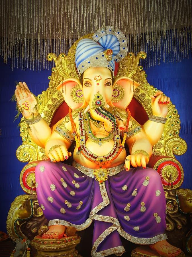 фестиваль лорда Ganesha ИНДИИ стоковые фотографии rf
