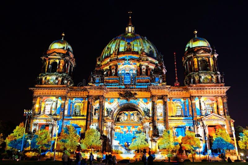 Фестиваль света, Берлина, Германии - Dom берлинца стоковые изображения rf