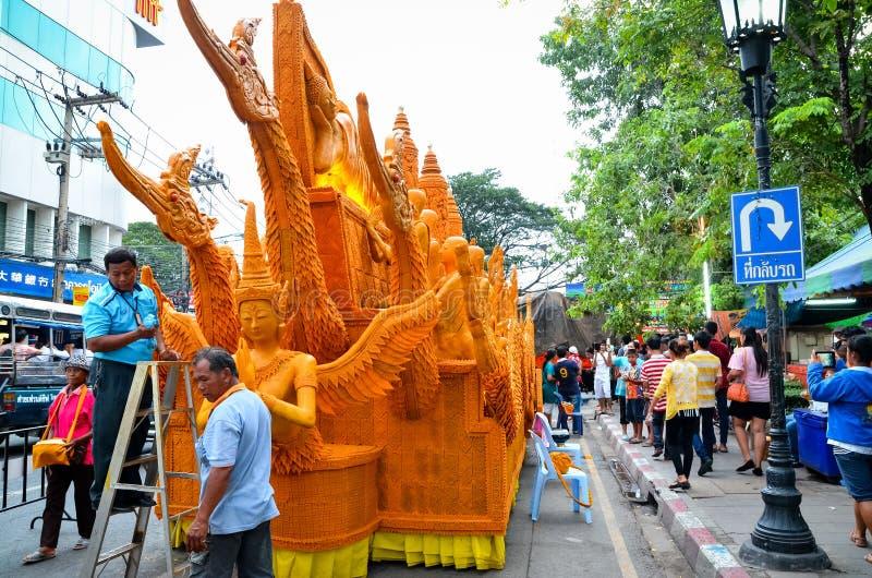 Фестиваль свечи ежегодный фестиваль Nakhon Ratchasima стоковые фото