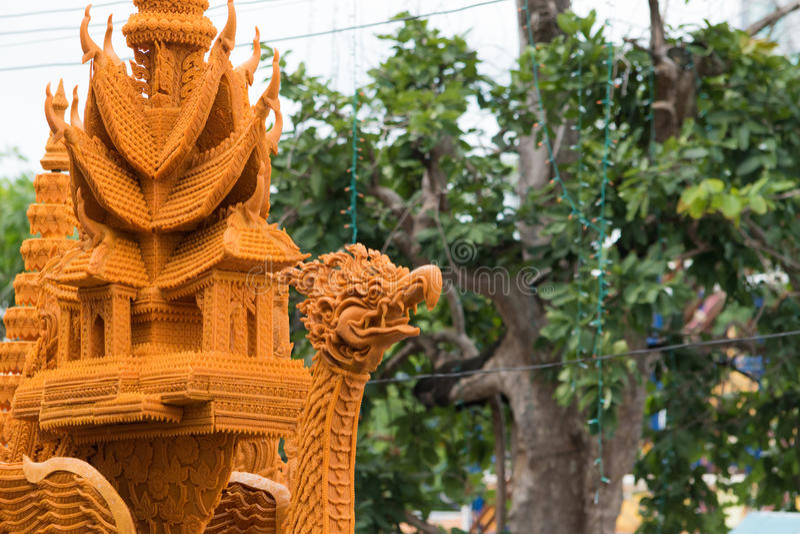 Фестиваль свечи Таиланда в Nakhon Ratchasima стоковое изображение