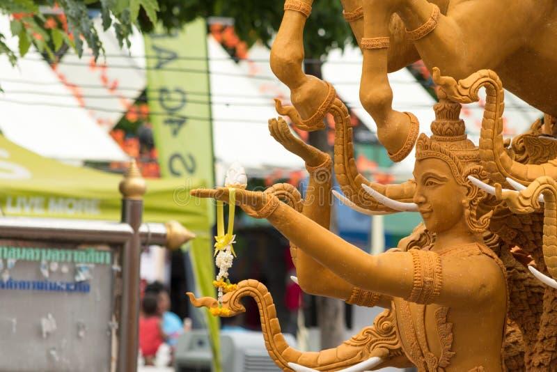 Фестиваль свечи Таиланда в Nakhon Ratchasima стоковое фото rf
