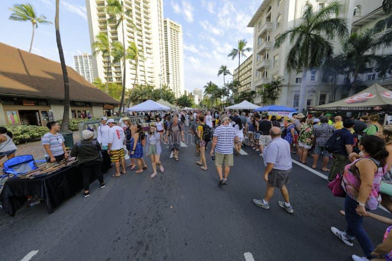 Фестиваль улицы пляжа Waikiki стоковые фото