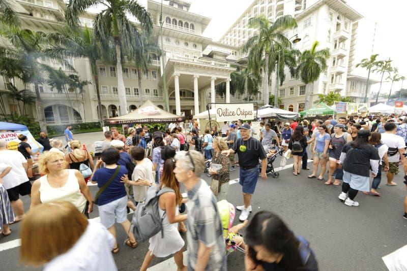 Фестиваль улицы пляжа Waikiki стоковое фото