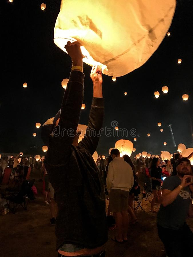 Фестиваль фонарика стоковые фотографии rf