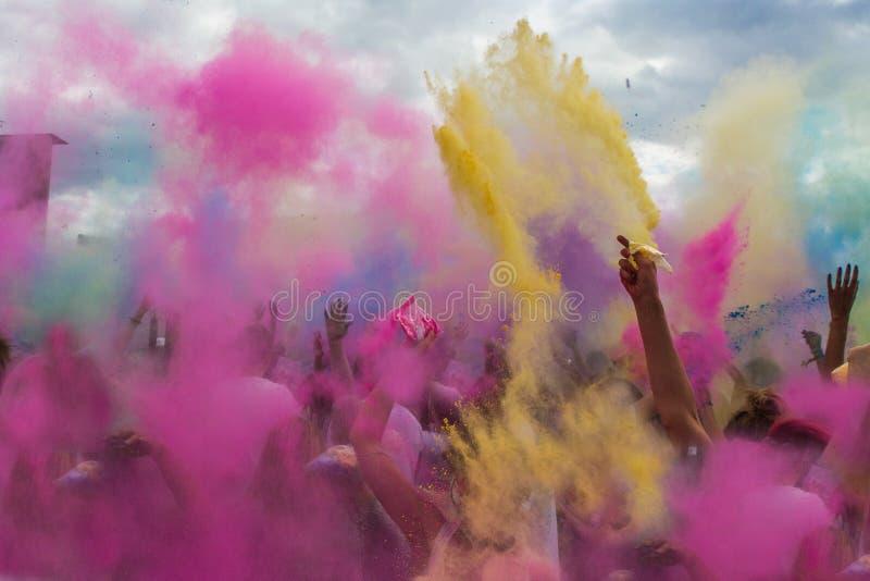 Фестиваль цветов, Индия Holi стоковое фото rf