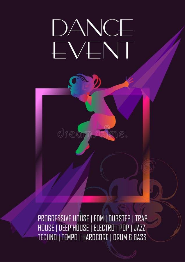 Фестиваль электронной музыки танца иллюстрация штока