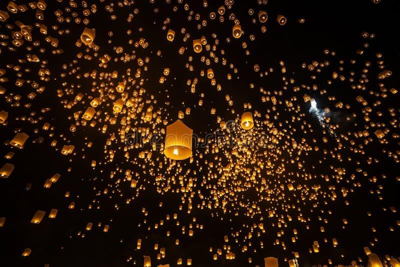 Фестиваль Chiangmai Таиланд Yi Peng стоковая фотография