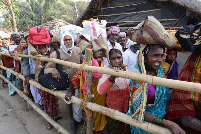 Фестиваль Gangasagar стоковые изображения