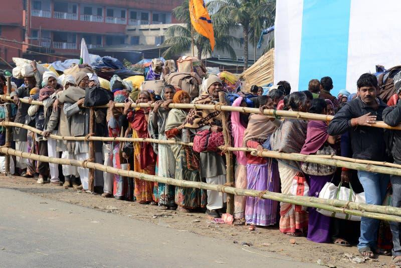 Фестиваль Gangasagar стоковые изображения rf
