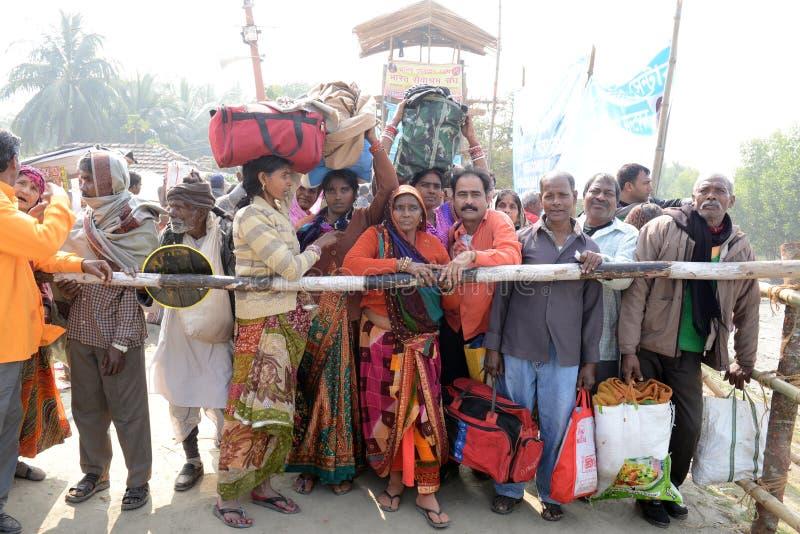 Фестиваль Gangasagar стоковая фотография