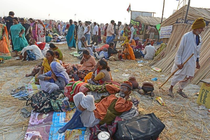 Фестиваль Gangasagar стоковые фотографии rf