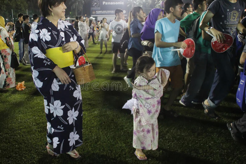 Фестиваль odori Bon в Малайзии стоковые фотографии rf