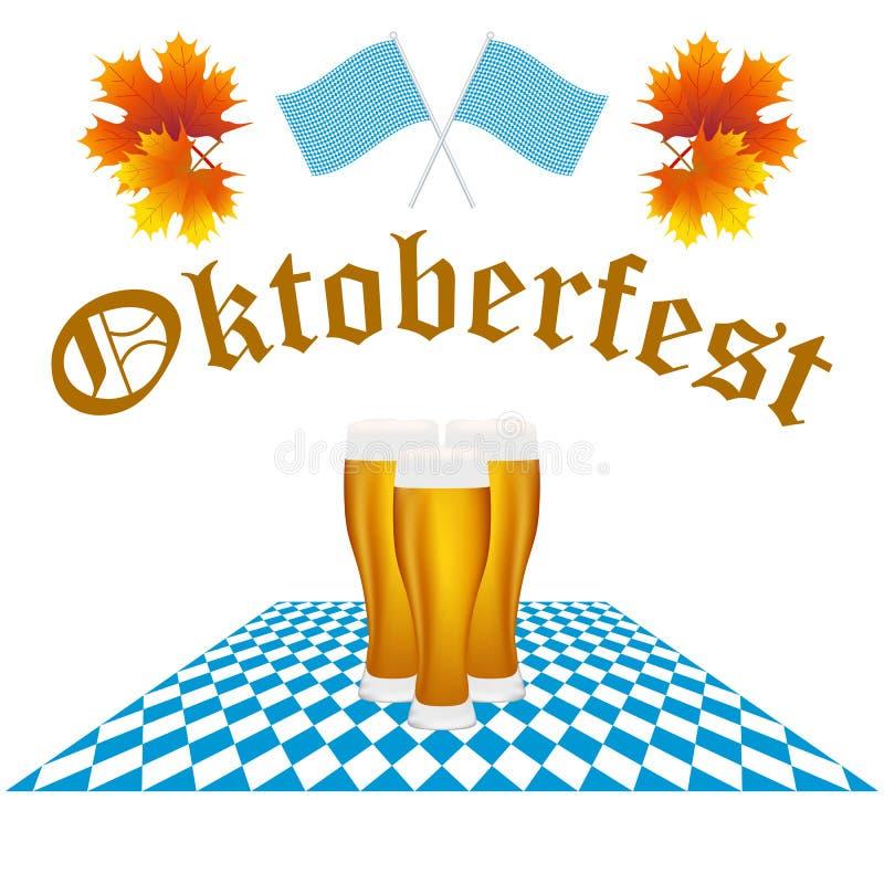 Фестиваль Oktoberfest карточки иллюстрация штока