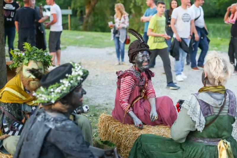Фестиваль Perunfest на замке Lukavec стоковое изображение rf