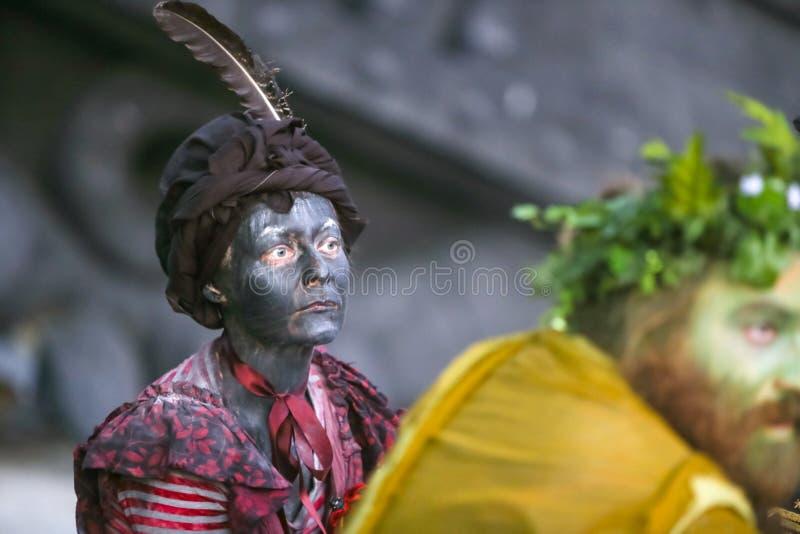 Фестиваль Perunfest на замке Lukavec стоковые изображения