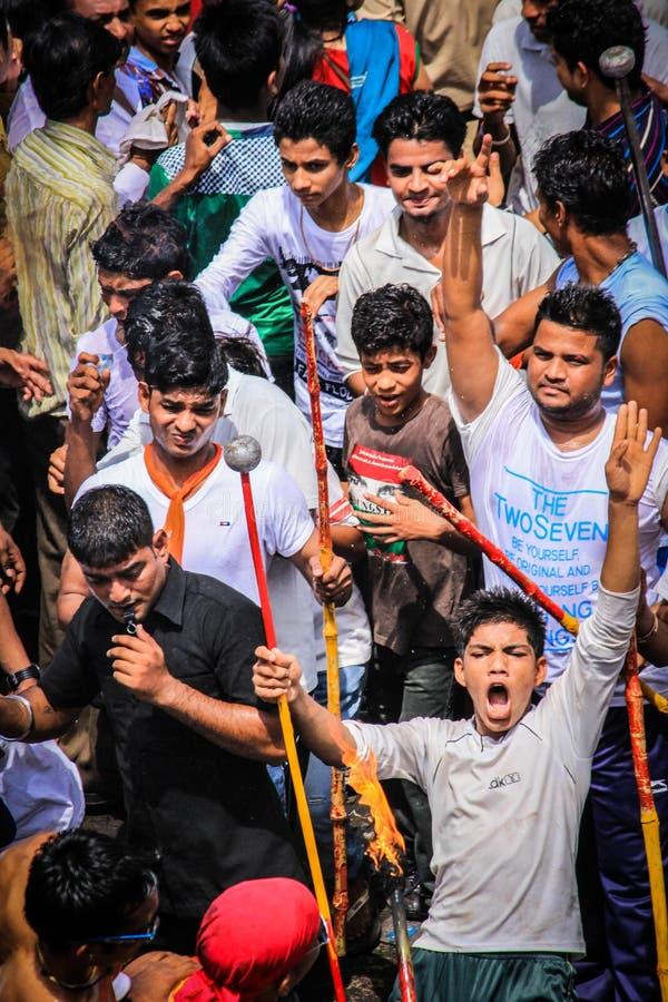 Фестиваль Rathyatra, Ахмадабад, Индия стоковое изображение rf