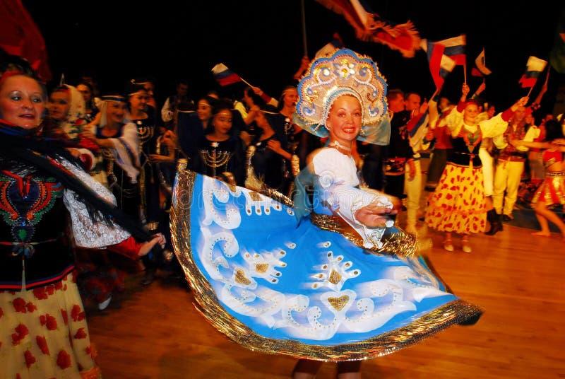 Фестиваль 23rd фольклора международный в Израиле стоковое изображение