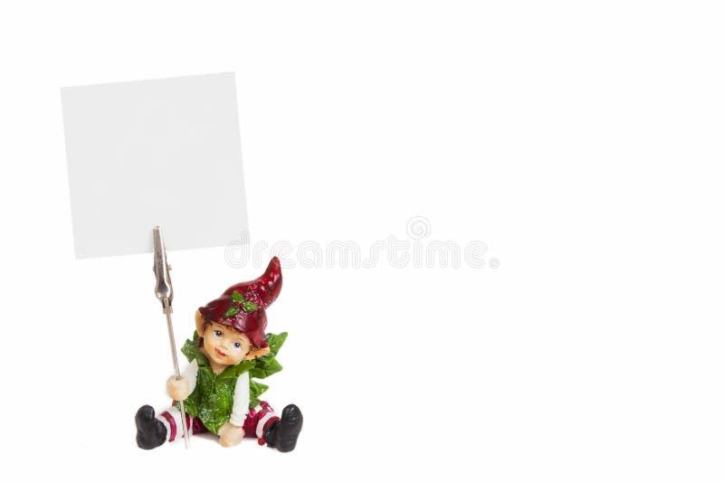 Фея держа пустой белый плакат стоковые изображения