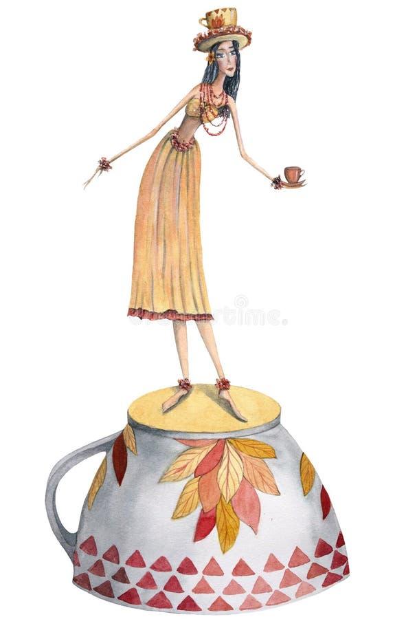 Фея душистого чая бесплатная иллюстрация