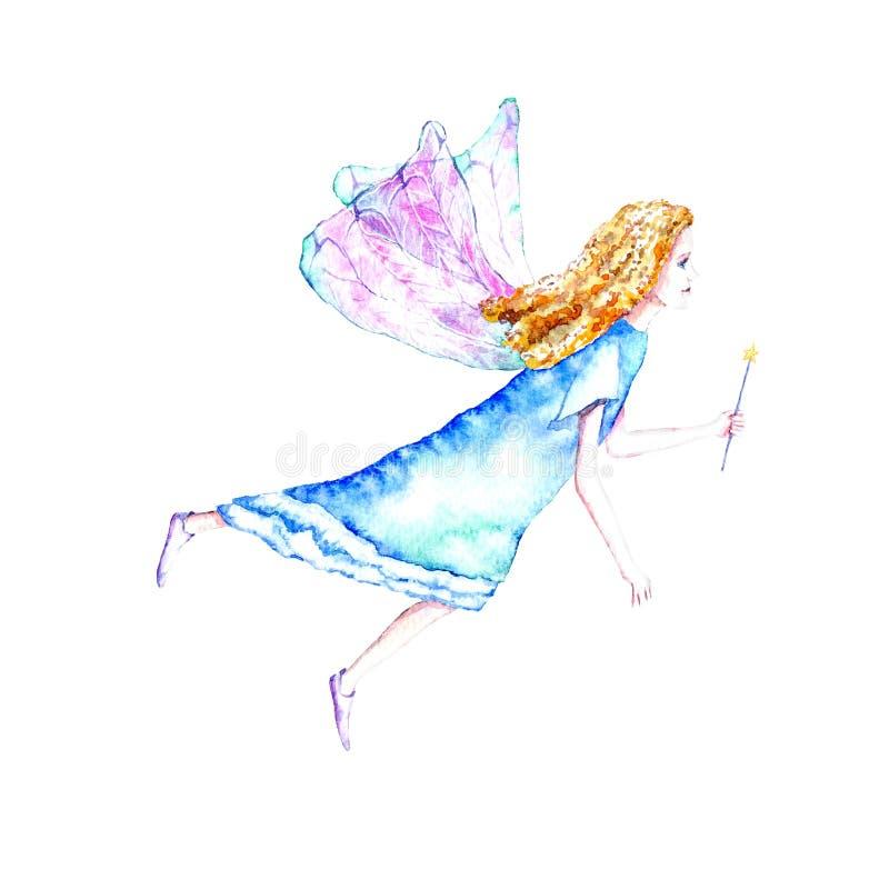 Фея и волшебная палочка r иллюстрация штока