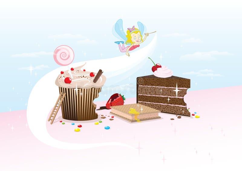 Фея пирожного иллюстрация штока