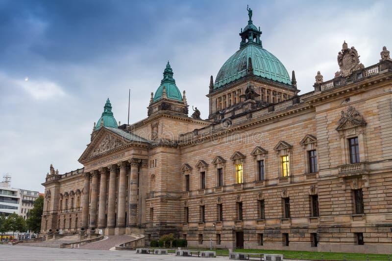 Федеральный административный суд, Лейпциг стоковые изображения