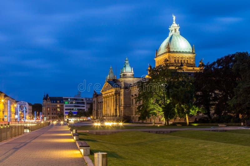 Федеральный административный суд, Лейпциг стоковая фотография