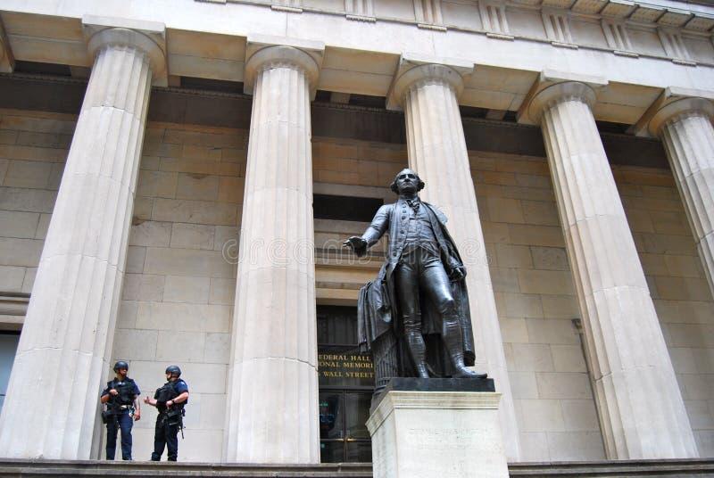Федеральный мемориал Hall национальный на Уолл-Стрите, NYC стоковая фотография