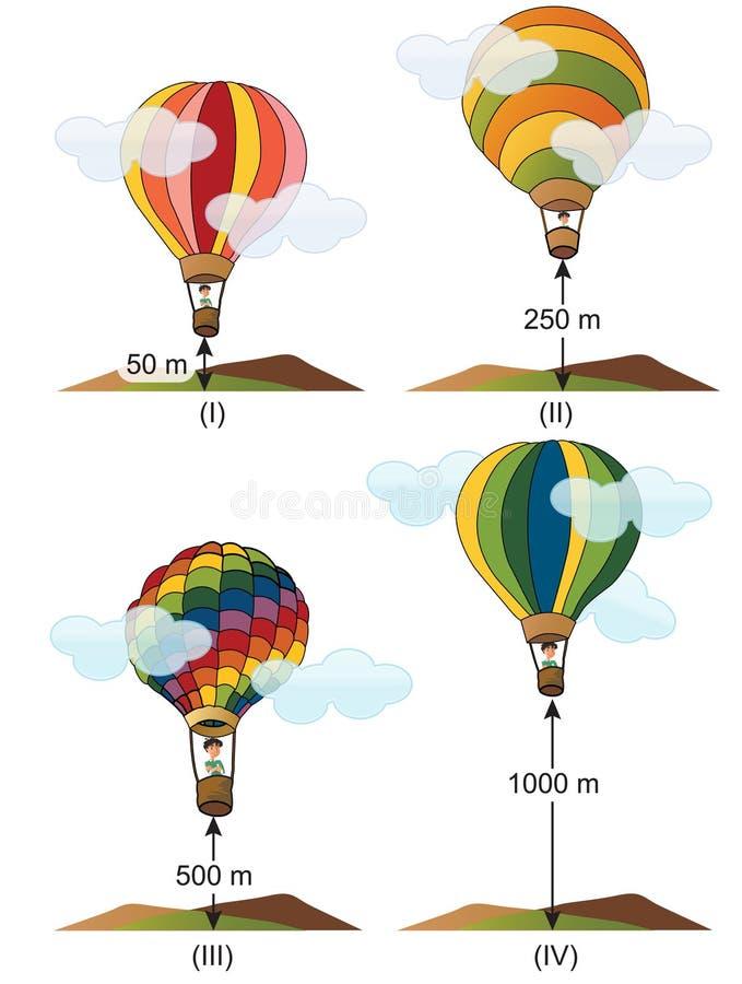 Физика - эксперименты по Versiyon 01 воздушного шара иллюстрация штока