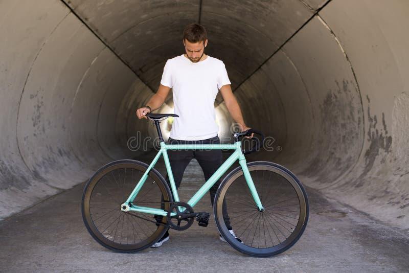 Фиксированный велосипед шестерни стоковое изображение