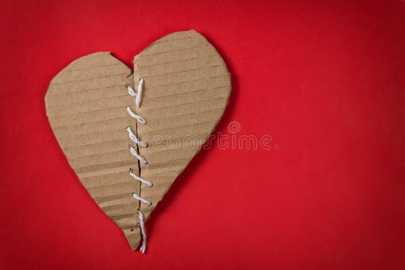 Фикчировано brocken сердце стоковая фотография