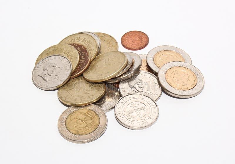 Филиппинские монетки чеканки песо стоковая фотография