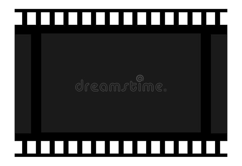 Фильм рамки пустой кадр Целлулоид значка Знак cinemeography и фотоснимок Кино символа иллюстрация штока