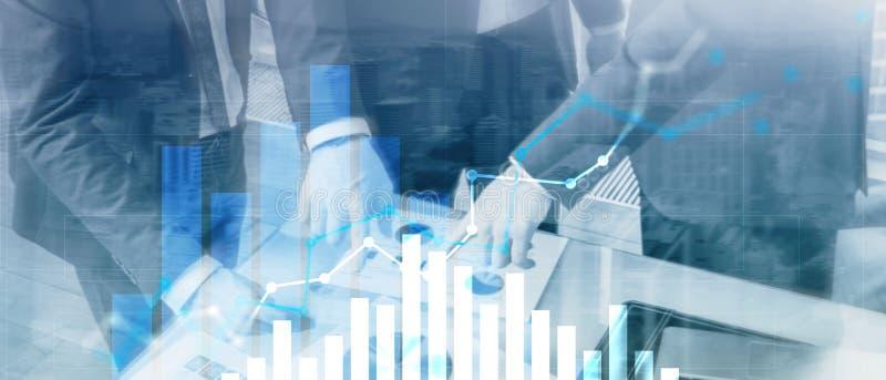 Финансовая диаграмма роста Продажи увеличивают, концепция маркетинговой стратегии иллюстрация вектора