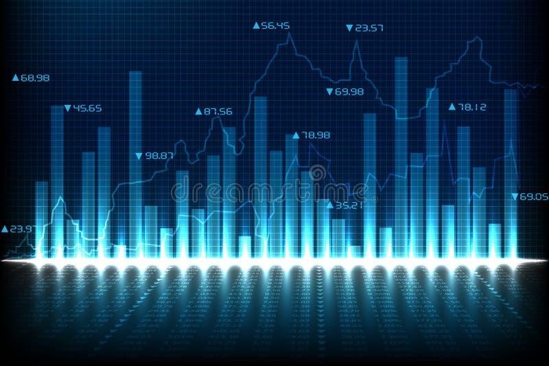 Финансовая диаграмма диаграммы иллюстрация вектора