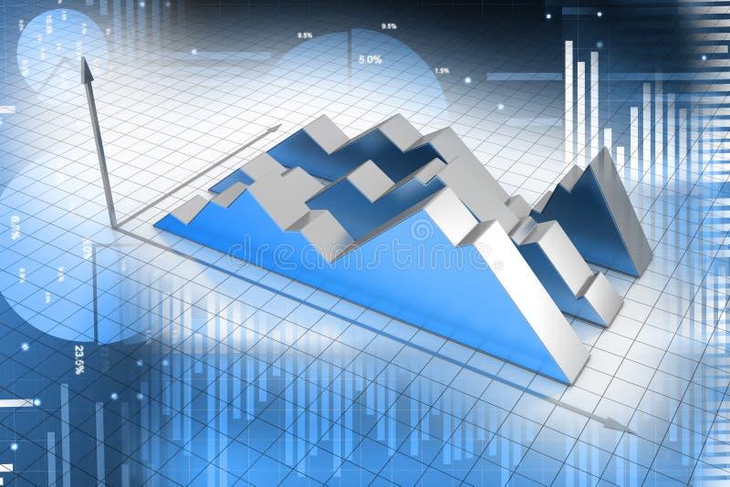 Финансовая диаграмма иллюстрация вектора