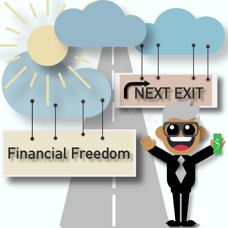 Финансовая концепция дела свободы иллюстрация вектора