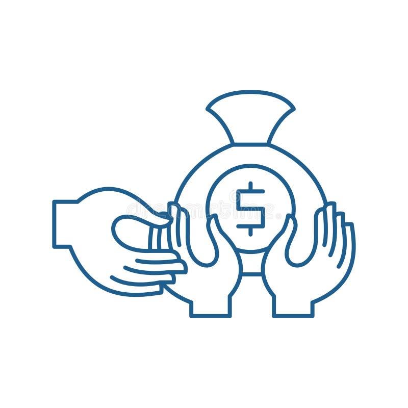 Финансовая линия концепция очковтирательства значка Символ вектора финансового очковтирательства плоский, знак, иллюстрация плана иллюстрация вектора