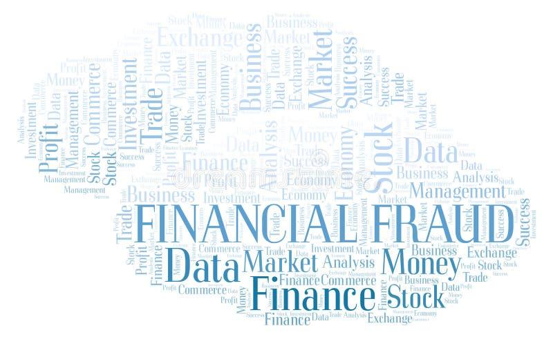 Финансовое облако слова очковтирательства бесплатная иллюстрация