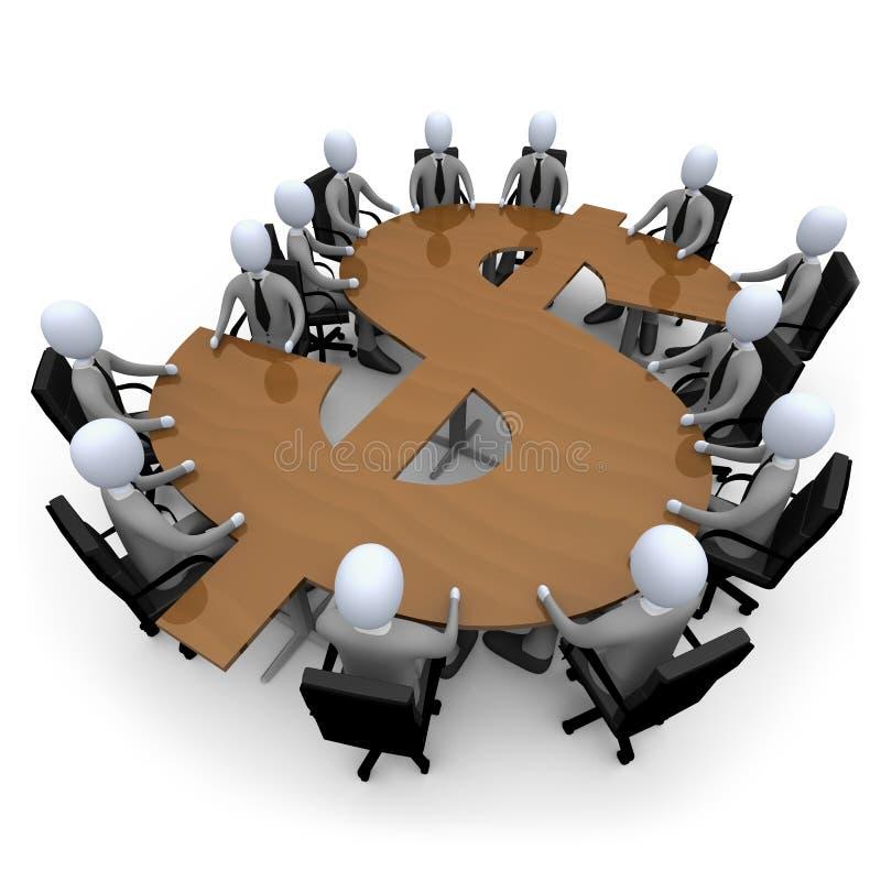 финансовохозяйственная встреча иллюстрация вектора
